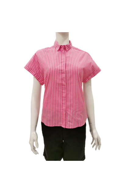 Hush Puppies Lena Ladies Cap Sleeve Blouse With Collar |HQW733299